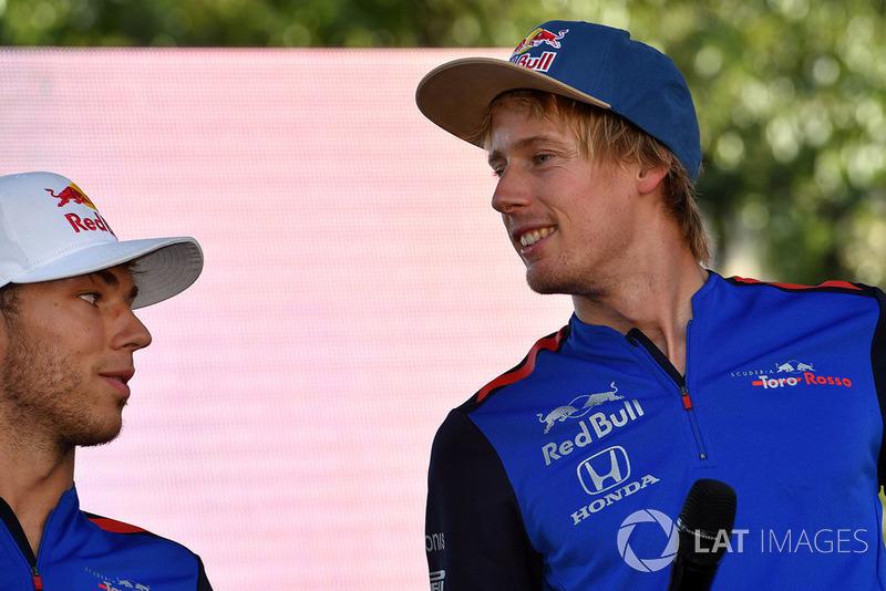 Pierre Gasly, Scuderia Toro Rosso Toro Rosso and Brendon Hartley, Scuderia Toro Rosso