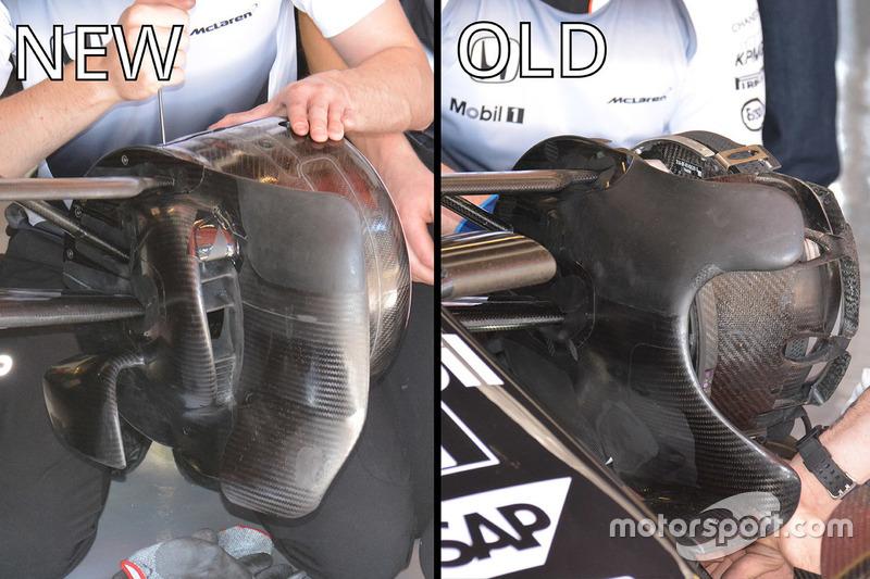 Vergleich vorderer Bremsschacht, McLaren MP4-31