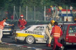 Crash of Michael Schumacher and Johnny Cecotto,  Kaercher-AMG Mercedes 190E 2.5-16 Evo II and Frank Biela