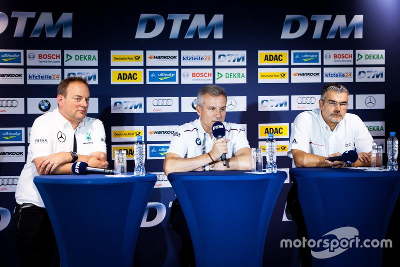 Conferenza stampa: Ullrich Fritz, Team Principal Mercedes-AMG HWA; Jens Marquardt, Direttore BMW Motorsport; Dieter Gass, Capo DTM Audi Sport