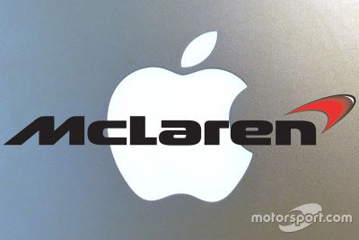 Apple McLaren logo mashup