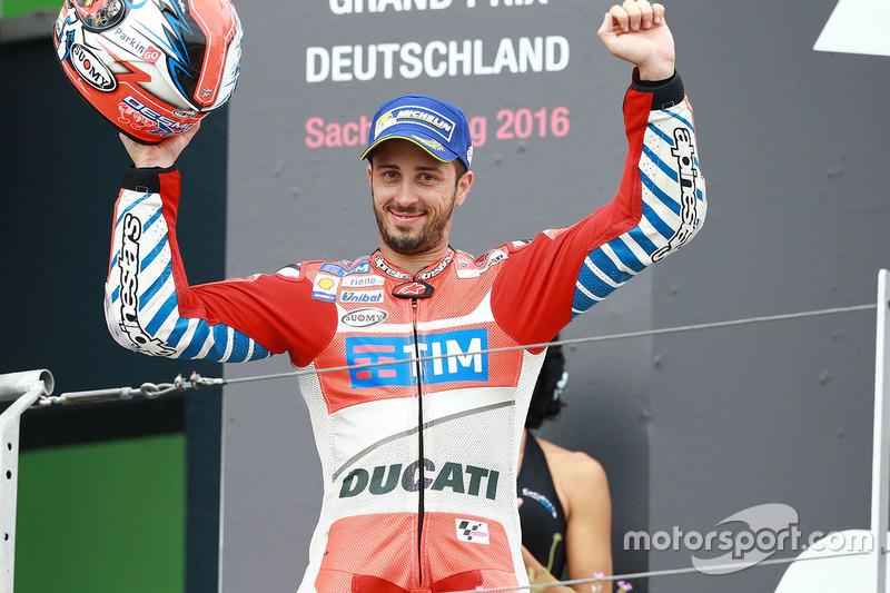 Podio: terzo Andrea Dovizioso, Ducati Team