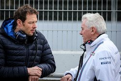 Alex Wurz, Williams Driver Mentor and GPDA Chairman with Pat Symonds, Williams Chief Technical Officer