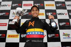 Podio: il vincitore della gara Manuel Maldonado, Fortec Motorsports