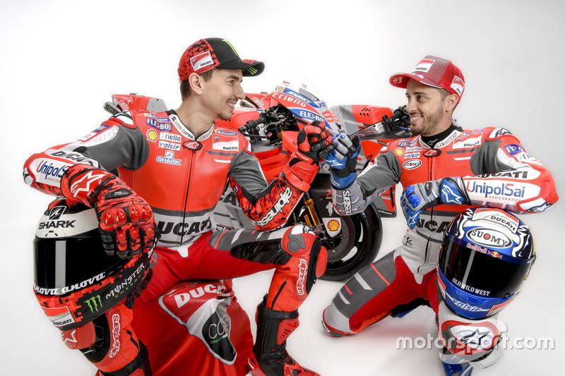 Jorge Lorenzo and Andrea Dovizioso, Ducati Team
