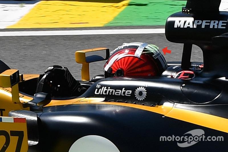 Nico Hulkenberg, Renault Sport F1 Team RS17 kask detay