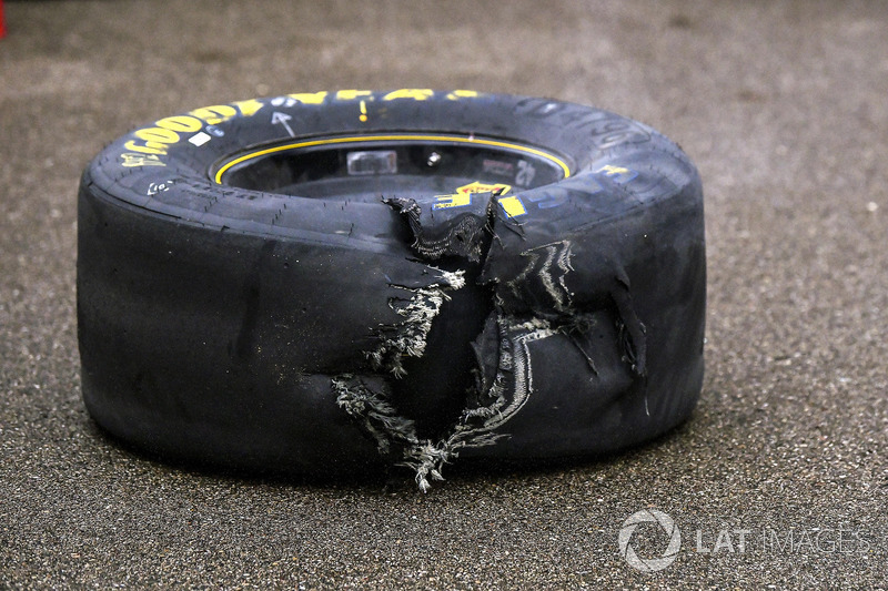 Ripped tire