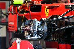 Ferrari SF71H front brake and wheel hub detail