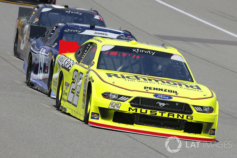 Paul Menard, Team Penske, Ford Mustang Menards/Richmond and Brandon Jones, Joe Gibbs Racing, Toyota Camry Toyota XYO Networks