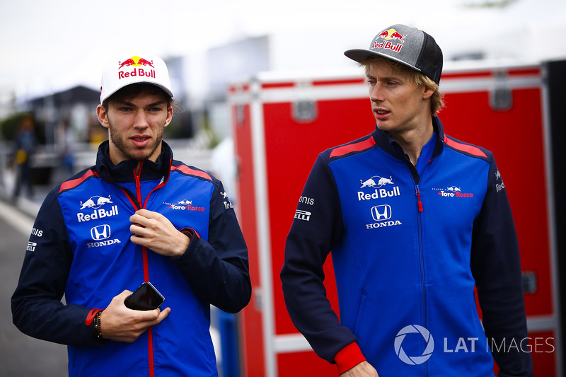 Brendon Hartley, Toro Rosso, and Pierre Gasly, Toro Rosso