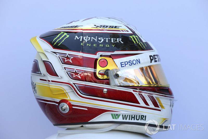 Le casque de Lewis Hamilton, Mercedes-AMG F1
