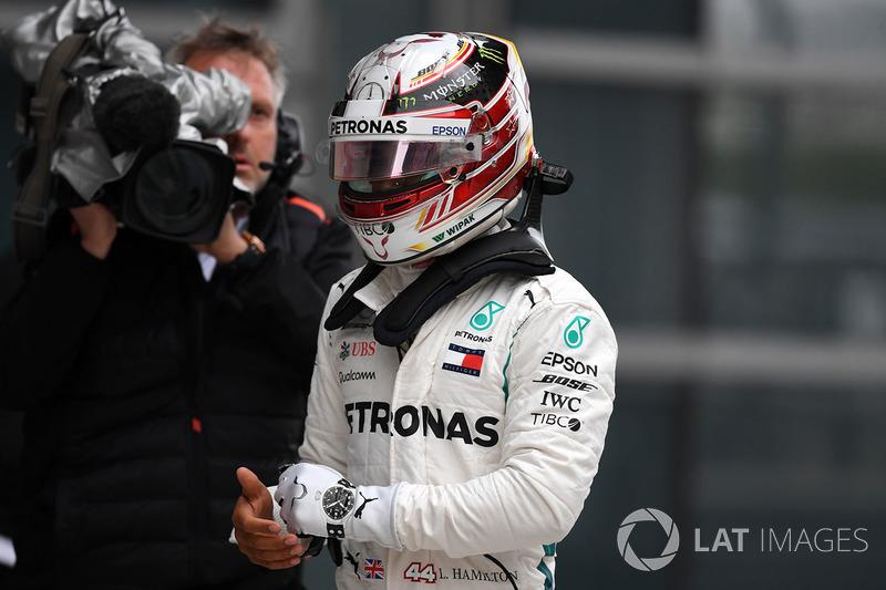 Lewis Hamilton, Mercedes-AMG F1 dans le Parc Fermé