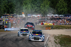 Andreas Bakkerud, EKS RX Audi S1, Mattias Ekström, EKS RX Audi S1, Sébastien Loeb, Team Peugeot Hansen