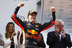 Race winner Max Verstappen, Red Bull Racing on the podium