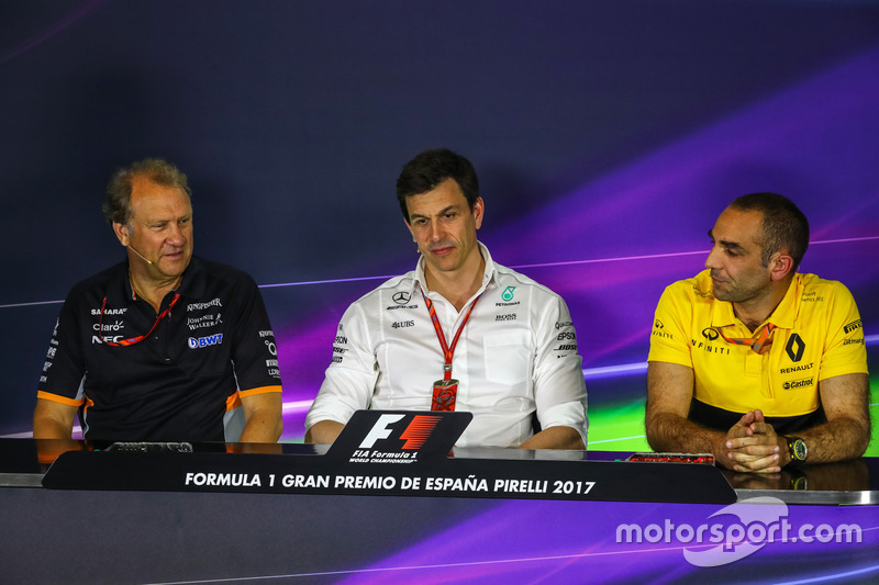 Robert Fearnley, Sahara Force India F1 Team Deputy Team Principal, Toto Wolff, Mercedes AMG F1 Direc