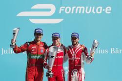 Podium: Race winner Felix Rosenqvist, Mahindra Racin, second place Lucas Di Grassi, ABT Schaeffler Audi Spor; third place Nick Heidfeld, Mahindra Racing