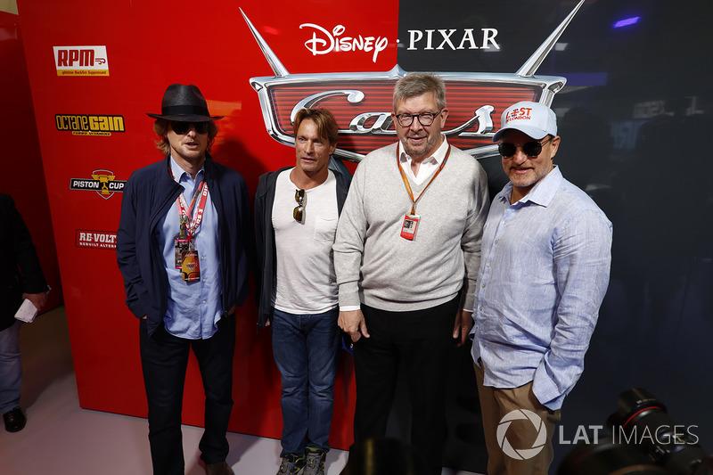 Ross Brawn, Formel-1-Motorsportchef, Woody Harrelson, Schauspieler, Owen Wilson, Schauspieler