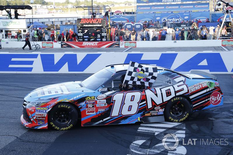 Ganador de la carrera Kyle Busch, Joe Gibbs Racing Toyota