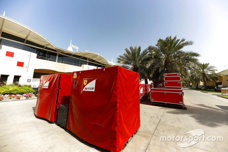 Ferrari freight in the paddock