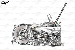 Lotus Renault R31 torsion bar