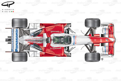 Toyota TF107 2007 top view