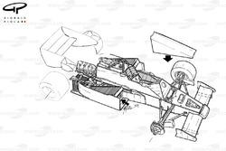 Подробная схема Arrows A7 1984 года