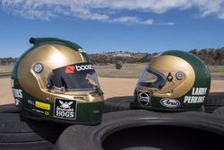 Jack Perkins special helmet honoring his father