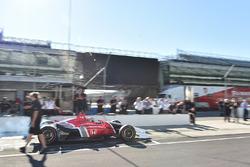 Oriol Servia testing the 2018 Honda IndyCar