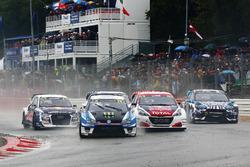 Johan Kristoffersson, PSRX Volkswagen Sweden, VW Polo GTi, Sebastien Loeb, Team Peugeot-Hansen, Peugeot 208 WRX