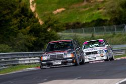 Klaus Ludwig, Mercedes 190 DTM y Johnny Cecotto, BMW M3 DTM