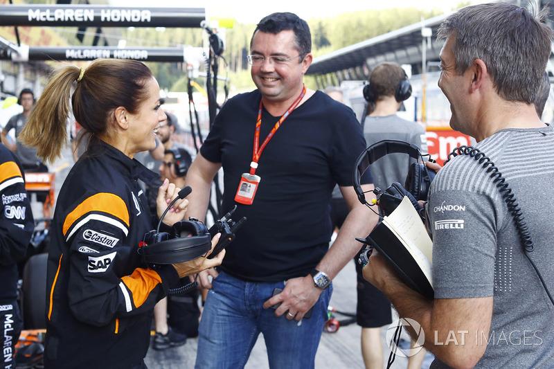 Natalie Pinkham. Eric Boullier, director de McLaren