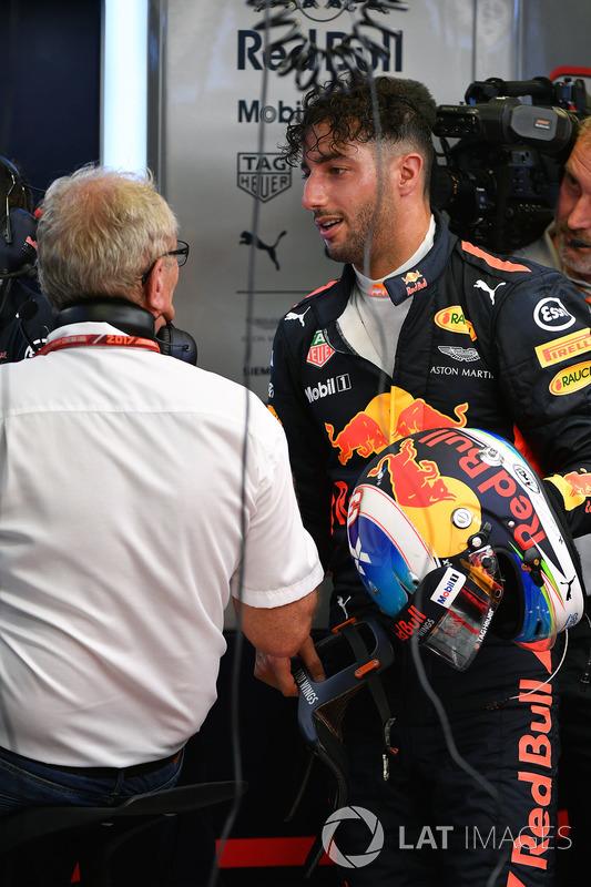 Daniel Ricciardo, Red Bull Racing, mit Dr. Helmut Marko, Red-Bull-Motorsportberater