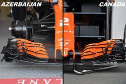Nez et aileron avant de la McLaren MCL32