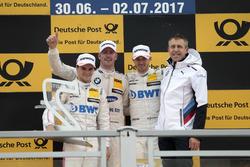 Podyum: Yarış galibi Maxime Martin, BMW Team RBM, BMW M4 DTM, 2. Lucas Auer, Mercedes-AMG Team HWA, Mercedes-AMG C63 DTM, 3. Edoardo Mortara, Mercedes-AMG Team HWA, Mercedes-AMG C63 DTM, Bart Mampaey, Team principal BMW Team RBM