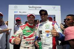 Tiago Monteiro, Honda Racing Team JAS, Honda Civic WTCC and Mehdi Bennani, Sébastien Loeb Racing, Citroën C-Elysée WTCC