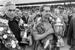 Left-to-right: Piero Taruffi, 2nd position and Alberto Ascari, 1st position, on the podium