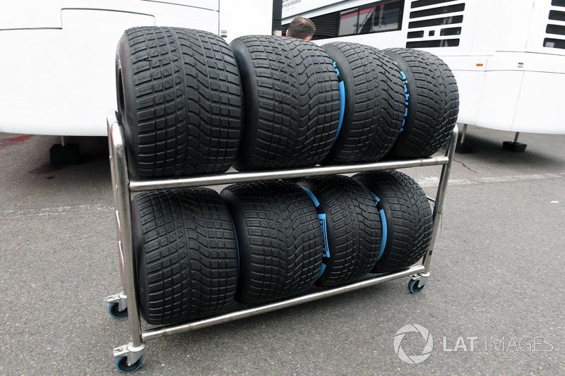 Pirelli tyre preparation area