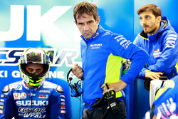 Andrea Iannone, Team Suzuki MotoGP, Davide Brivio, Teammanager Team Suzuki MotoGP