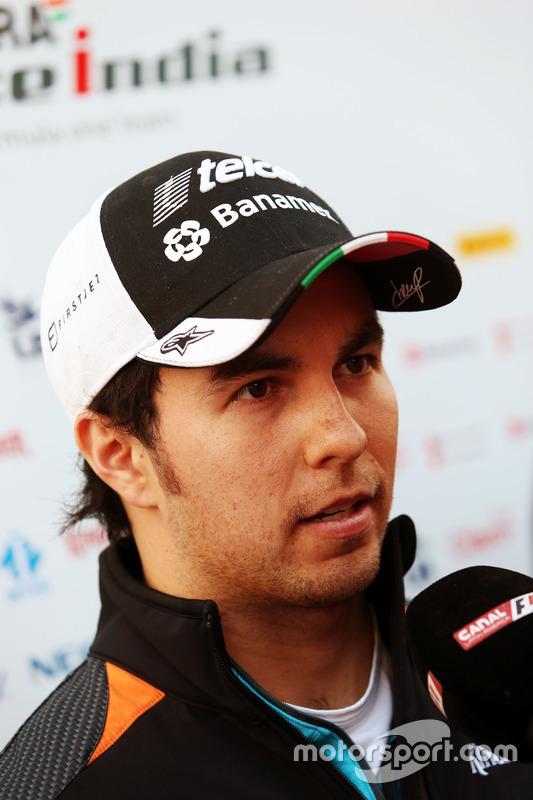 Sergio Perez, Sahara Force India F1 met de media