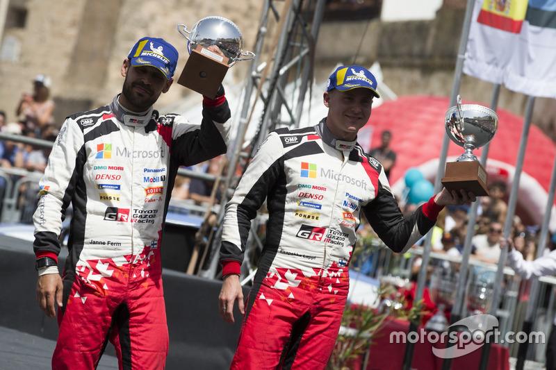 Podium: third place Esapekka Lappi, Janne Ferm, Toyota Gazoo Racing WRT Toyota Yaris WRC