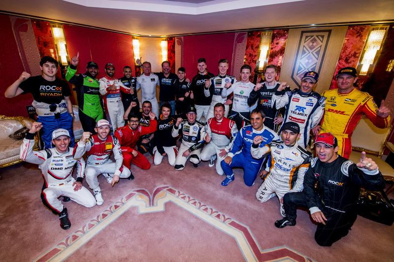 Los pilotos antes de la Copa de Naciones ROC