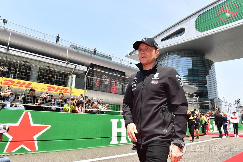 Valtteri Bottas, Mercedes-AMG F1 on the drivers parade