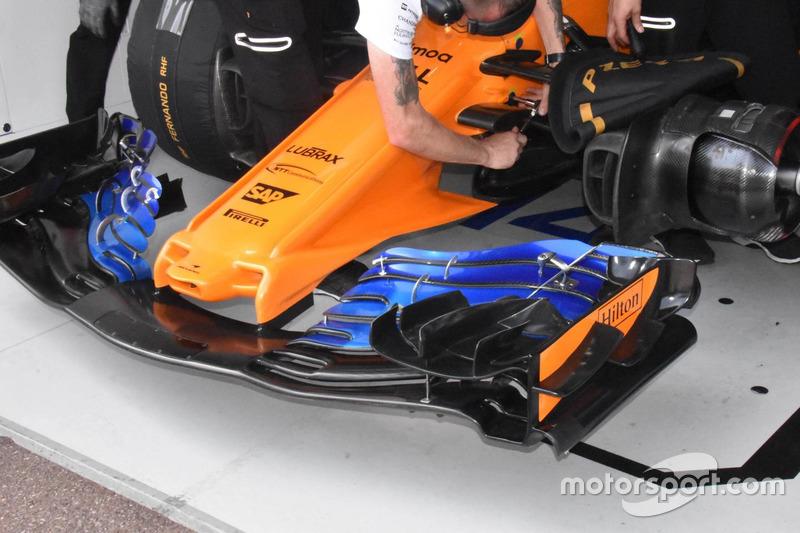 Sayap depan versi baru McLaren MCL33