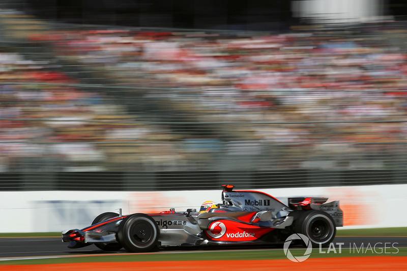 2008: Lewis Hamilton, McLaren Mercedes MP4/23