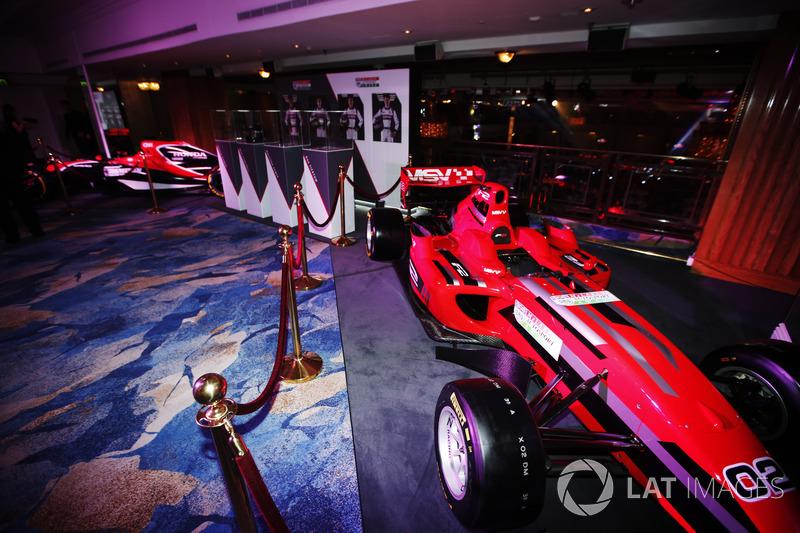 A Formula 2 car and McLaren Honda on display