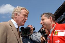 Jean Todt, Ferrari discute avec Max Mosley, président de la FIA