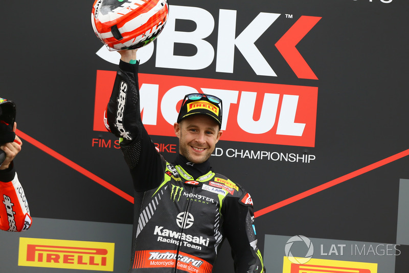 Jonathan Rea, deuxième, Kawasaki Racing