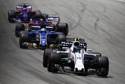 Lance Stroll, Williams FW40, Marcus Ericsson, Sauber C36, Brendon Hartley, Scuderia Toro Rosso STR12, Pierre Gasly, Scuderia Toro Rosso STR12