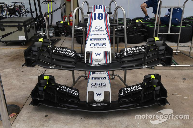 Morro del y alerones delanteros Williams FW40