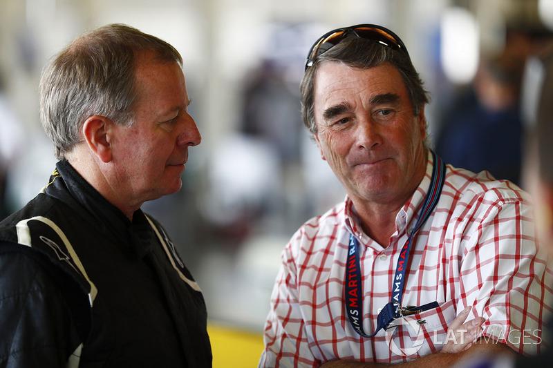 Martin Brundle dan Nigel Mansell
